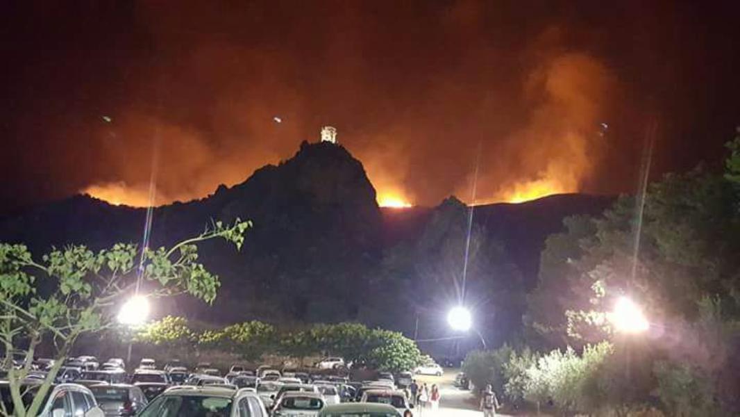 Incendi in Sicilia: distrutta la Riserva dello Zingaro