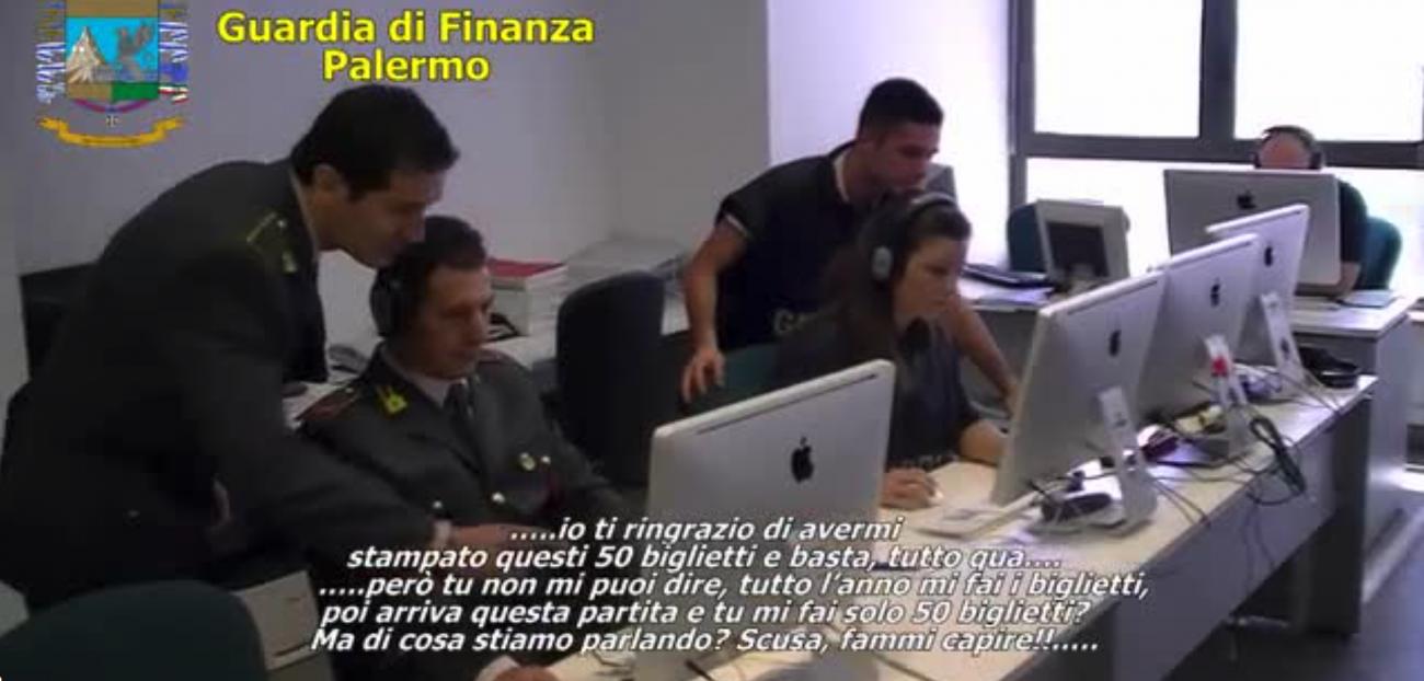 Falsificavano biglietti per partite del Palermo, nove agli arresti domiciliari