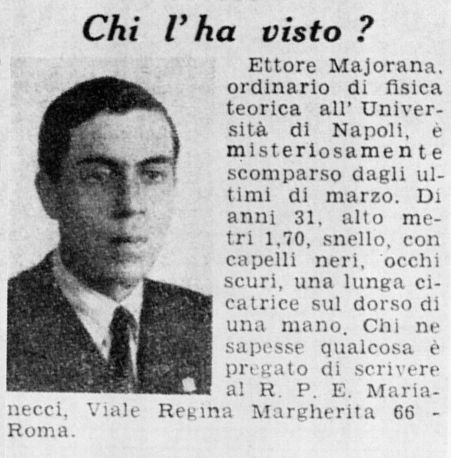 La scomparsa di Majorana, un mistero lungo ottant'anni