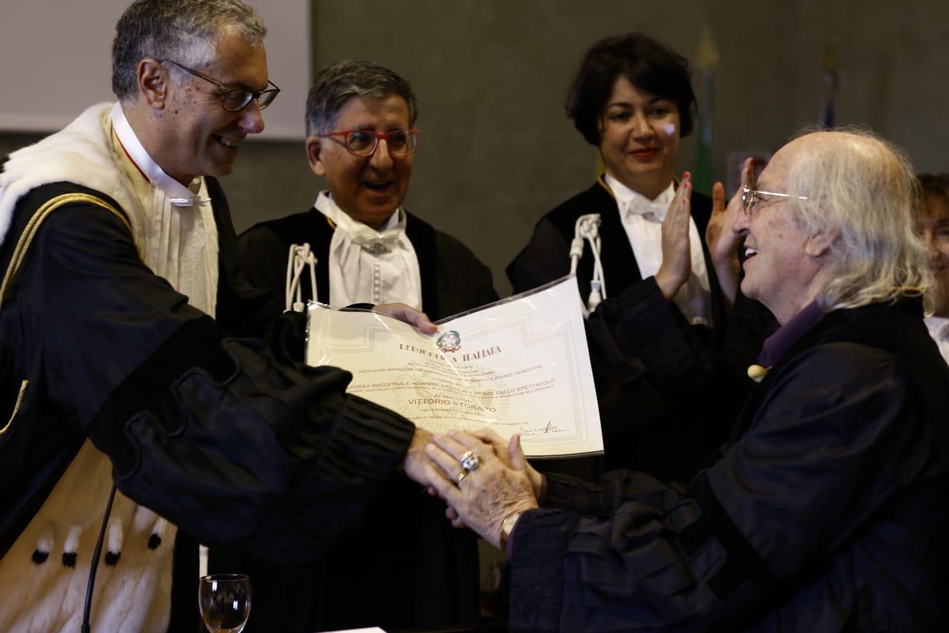 Laurea honoris causa in Scienze dello Spettacolo a Vittorio Storaro