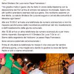 """""""Salve sindaco, sono Papa Francesco"""", Bergoglio telefona a De Luca Bergoglio"""