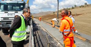 Musumeci visita a sorpresa i cantieri dell'autostrada Palermo-Catania