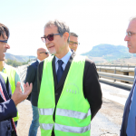Musumeci visita a sorpresa i cantieri dell'autostrada Palermo-Catania Anas