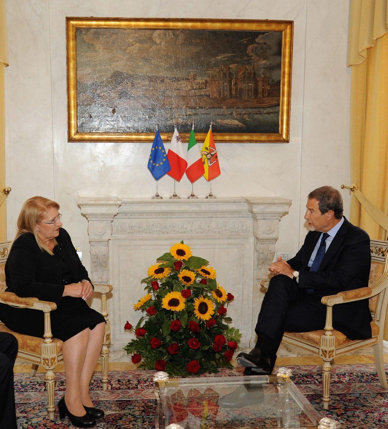 Musumeci incontra il presidente di Malta, intensificati rapporti di collaborazione