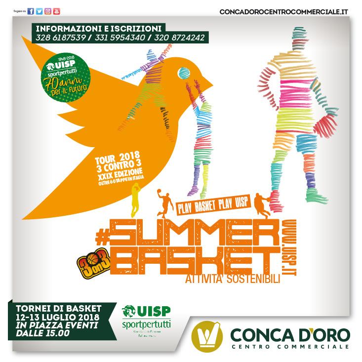 Il Summerbasket fa tappa a Palermo: 12 e 13 luglio al Conca d'Oro