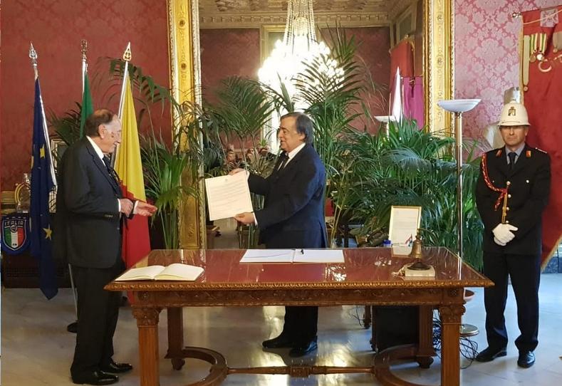 Palermo, Orlando conferisce cittadinanza onoraria a Luigi Cancrini