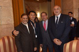 Il ministro dell'Educazione dell'India in visita a Palazzo dei Normanni