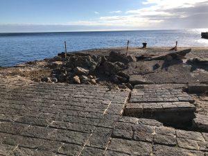 Porto di Ustica, avviati i lavori di ripristino di Cala Santa Maria