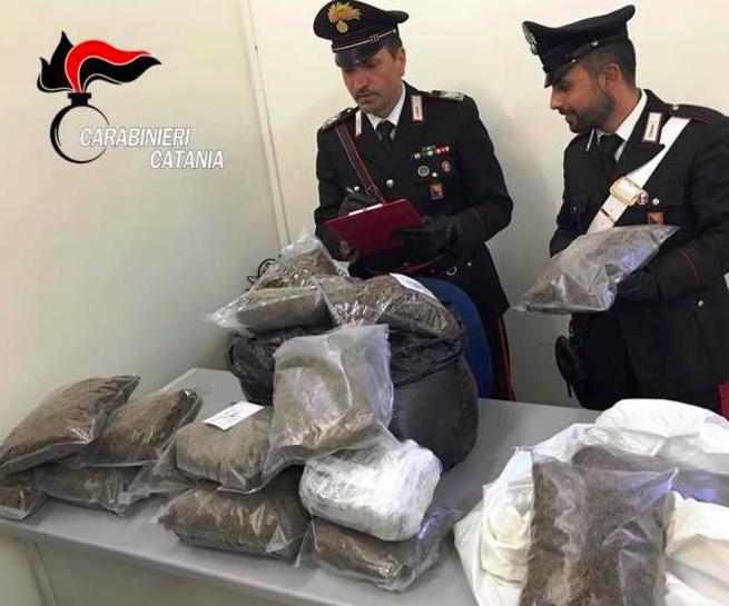 Catania, sequestrati 60 kg di marijuana
