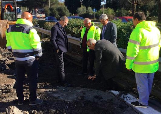 Terremoto, al via lavori per ripristinare l'asfalto sull'autostrada A18