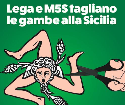 Pd Sicilia scende in piazza contro l'autonomia rafforzata per il Nord