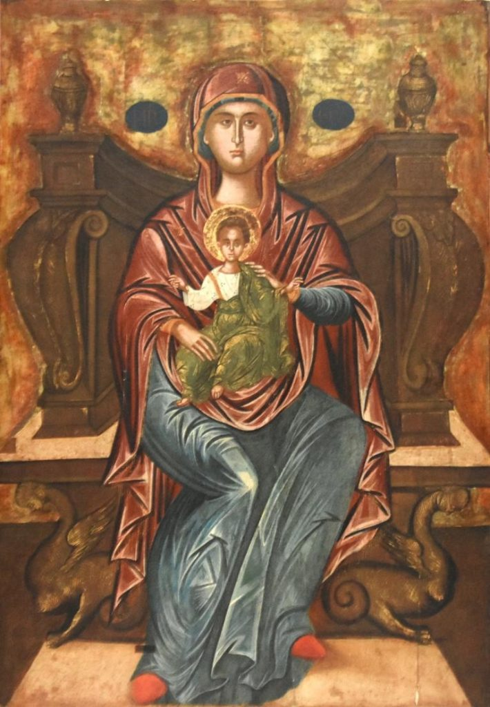 Piana degli Albanesi Madonna Platytera Scuola cretese fine sec. XVI
