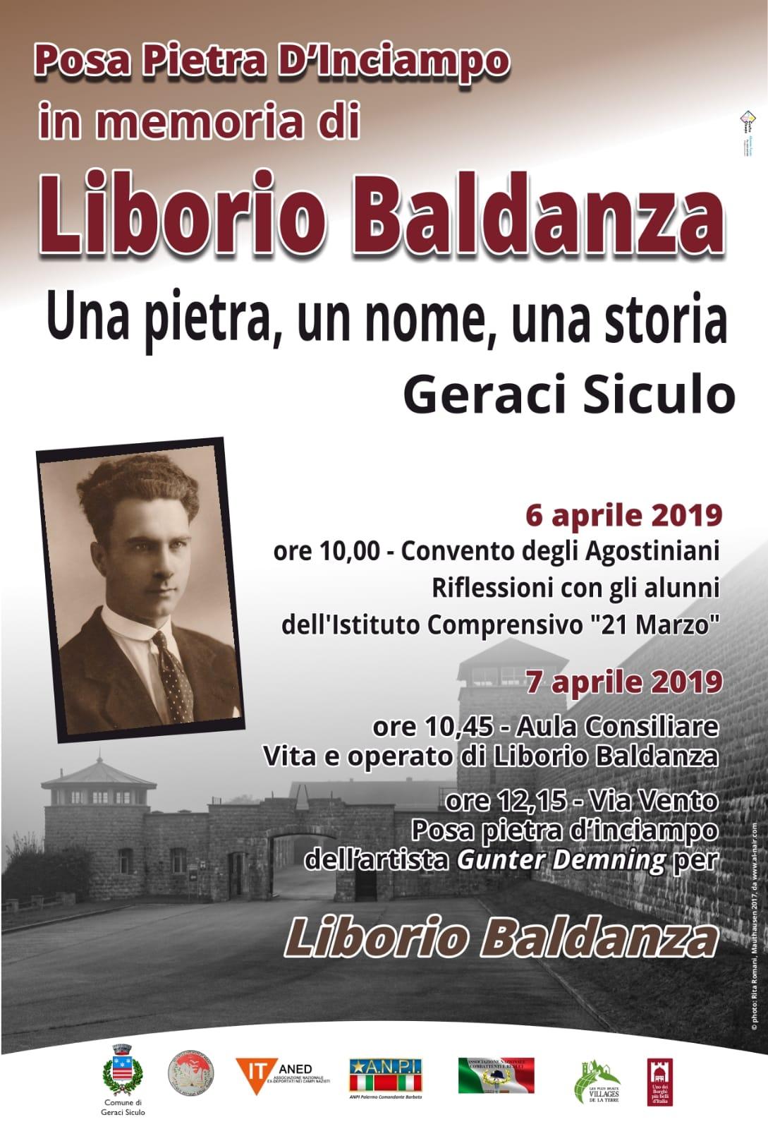 A Geraci Siculo la pietra d'inciampo per ricordare Liborio Baldanza