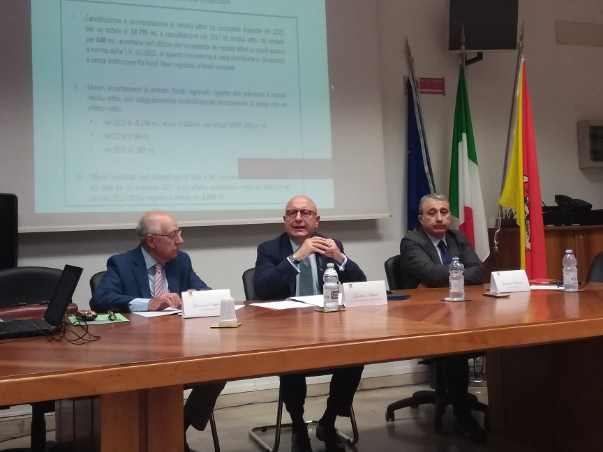 Disavanzo regionale 2017, presentata relazione della Commissione