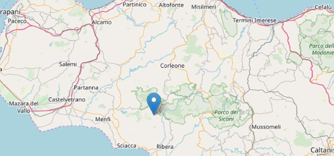 Terremoto nell'agrigentino: epicentro a Caltabellotta
