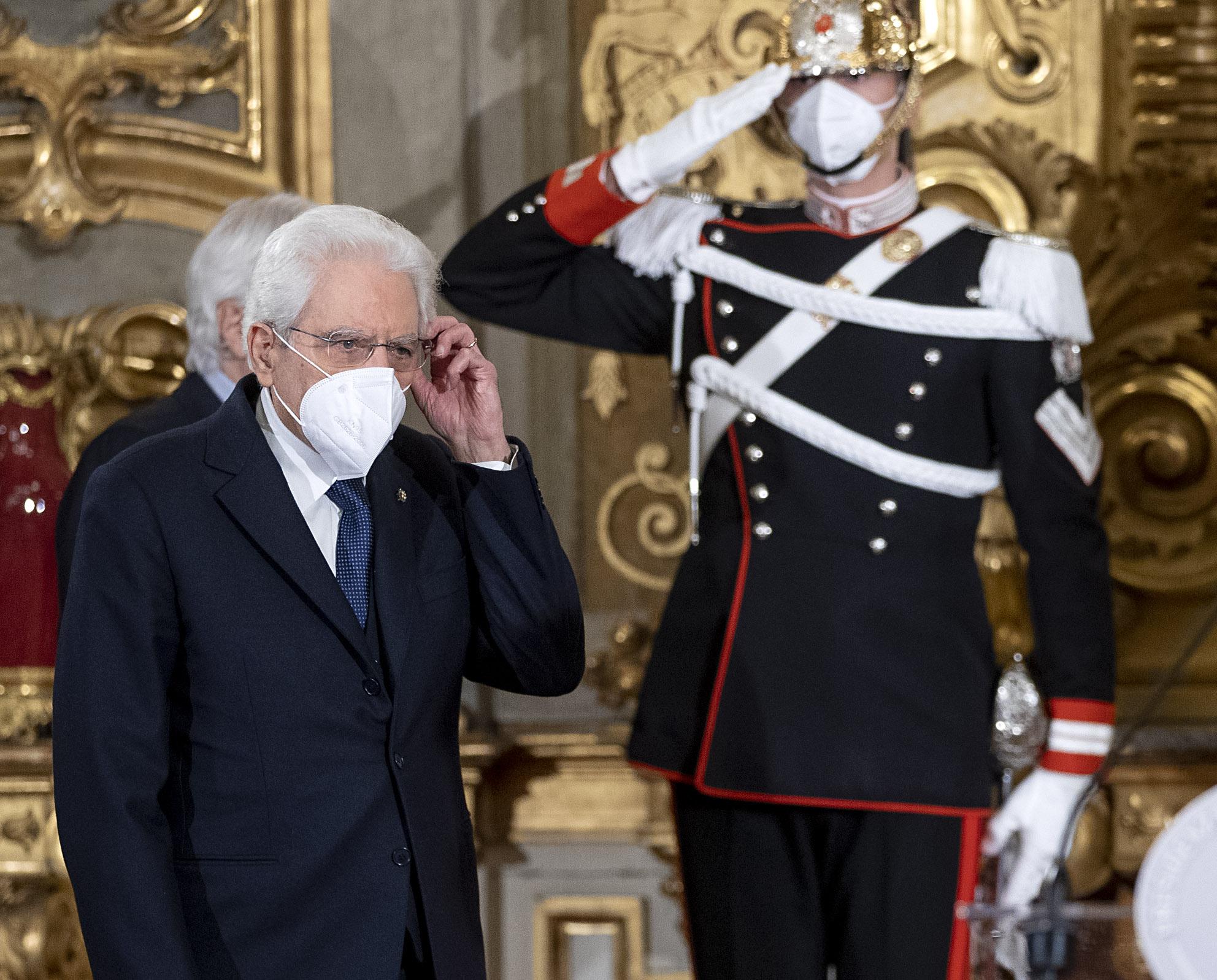 alfiere della Repubblica Sergio Mattarella