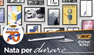Bic Cristal Re'New, la penna più venduta al mondo, compie 70 anni