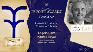 Palermo, Angelo Cuva professionista dell'anno per consulenza tributaria